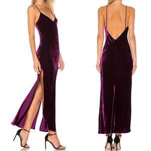 LoveShackFancy   L Kate Slip Dress in Mulberry